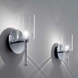AXO Light - AXO Light | Spillray Wall Sconce - Design by Manuel Vivian, 2011.From the Spillray collection by Axo Light, come the Spillray Wall Sconce. Featuring a cylinder shaped glass shade (available in various colors) and chrome metal canopy.