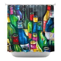 DiaNoche Designs - Shower Curtain Artistic - Wine Collection - DiaNoche Designs works with artists from around the world to bring unique, artistic products to decorate all aspects of your home.  Our designer Shower Curtains will be the talk of every guest to visit your bathroom!  Our Shower Curtains have Sewn reinforced holes for curtain rings, Shower Curtain Rings Not Included.  Dye Sublimation printing adheres the ink to the material for long life and durability. Machine Wash upon arrival for maximum softness. Made in USA.  Shower Curtain Rings Not Included.