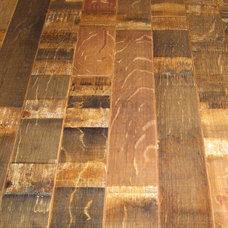 Eclectic Hardwood Flooring by Wine Racks America