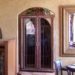 Painted Furniture Finishes & Faux Wood - Painted Wine Cabinet for an Italian family at Tutte Fresco in Rancho Santa Margarita, CA