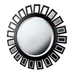 Kenroy - Kenroy 60040 Straus Wall Round Mirror - Boldly scaled in size and design, this mirror will be the focal point of any room it graces.  Overall Product Dimensions:  34 Inch Diameter Mirror Size:  21 Inch Diameter 1 Inch Beveled Silver Mirror
