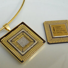 Intel Recycled CPU Necklace by GMOTHERBORED on Etsy