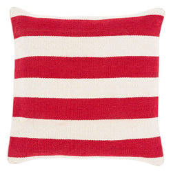 "Surya - Surya BD-002 Simple In Stripe Pillow, 20"" x 20"", Down Feather Filler - Offering a classic print that will surely remain timeless in any space, this dazzling pillow is the perfect addition to your home decor. With a striking stripe design in radiant coloring, this piece, with its understated simplicity will effortlessly emanate a sense of graceful, delicate charm. Genuinely faultless in aspects of construction and style, this piece embodies impeccable artistry while maintaining principles of affordability and durable design, making it the ideal accent for your decor."