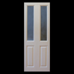 Kestrel Shutters & Doors - Closet Doors - These stile and rail bifold doors feature solid wood raised panels and removable trim to hold glass, mirrors or any other rigid, flat medium.