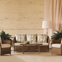 Weekend Retreat Collection - Weekend Retreat Sofa and Lounge Chairs by Lloyd Flanders. Outdoor Wicker.