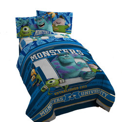 Jay Franco - Monsters University Twin Comforter - Contains (1) Twin Size Bed Comforter