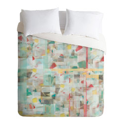 DENY Designs - Jacqueline Maldonado Mosaic Duvet Cover - Turn your basic, boring down comforter into the super stylish focal point of your bedroom. Our Luxe Duvet is made from a heavy-weight luxurious woven polyester with a 50% cotton/50% polyester cream bottom. It also includes a hidden zipper with interior corner ties to secure your comforter. It's comfy, fade-resistant, and custom printed for each and every customer.