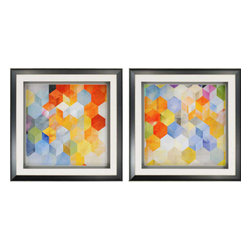 Paragon - Cubitz PK/2 - Framed Art - Each product is custom made upon order so there might be small variations from the picture displayed. No two pieces are exactly alike.