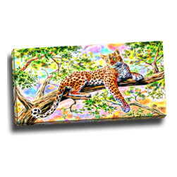Watchful Cheetah - Animal Art Canvas, 32W x 16H, 1 Panel - This animal artwork is a gallery wrapped canvas piece. This design is printed in high quality fade resistant ink on premium quality cotton canvas.