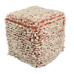 Jaipur Rugs - Scandinavia Tasha Pouf - Scandanavian poufs are coordinates to our range of rugs. Constructed of felt and thick woolen yarn.