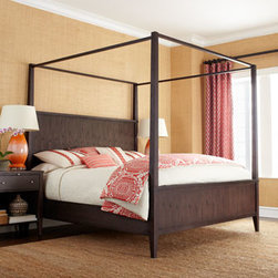 Horchow - Karington Espresso Queen Panel Bed - Exclusively ours. Talk about versatile. This bedroom furniture not only adds rustic charm to your bedroom; it also lets you configure your bed two different ways: panel bed or canopy bed when you add the optional canopy set (sold separately). Save wit...