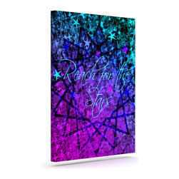"""Kess InHouse - Ebi Emporium """"Reach For The Stars"""" Pink Teal Wrapped Art Canvas (12"""" x 10"""") - Bring your outdoor patio to life with this artistic outdoor canvas wrap featuring gorgeous artwork by KESS InHouse. These canvases are not only easy to hang and remove but also are the perfect addition to your patio collection. These canvases are stretched around a wooden frame and are built to withstand the elements and still look artistically fabulous. Decorating your patio and walls with these prints will add the splash of art and color that is needed to bring your patio collection together! With so many size options and artwork to choose from, there is no way to go wrong with these KESS Canvas Wraps!"""