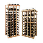 Wine Cellar Innovations - 4 Columns Individual w/Display; Vintner: Rustic Pine, Unstained, 4 Ft - Each wine bottle stored on this four column individual bottle wine rack is cradled on customized rails that are carefully manufactured with beveled ends and rounded edges to ensure wine labels will not tear when the bottles are removed. This wine rack also has a built in display row. Purchase two to stack on top of each other to maximize the height of your wine storage. Moldings and platforms sold separately. Assembly required.