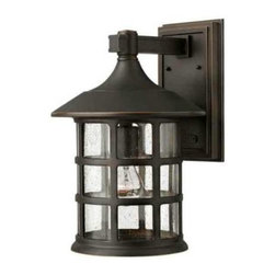 "Hinkley - Hinkley 1805OZ-LED Freeport 2 Light LED Outdoor Wall Lantern in Oil Rubbed Bronz - Enhance the beauty of your property with the traditional LED outdoor wall lantern. The LED panels are fully integrated and the driver is built into the fixture. With a height of 15-1 4"" the Freeport collection wall lantern features clear or etched seedy glass and cast aluminum construction. Create a warm and welcoming feel to your front entrance while enjoying the superior materials and craftsmanship of Hinkley Lighting fixtures.Clear Seedy Glass Olde Penny Includes Etched Seedy Glass Cast Aluminum Construction Fully Integrated LED Panel Built-In Driver UL Listed for Wet Location LED PanelsBack Plate Height: 9-1 2 Back Plate Width: 5-3 4 Bulb Type: LED Collection: Freeport Dark Sky: No Energy Star Compliant: No Extension: 11-1 4 Finish: Oil Rubbed Bronze Height: 15-1 4 Material: Aluminum Number of Lights: 2 Socket 1 Base: LED Socket 1 Max Wattage: 2 Style: Traditional Suggested Room Fit: Entry Foyer, Porch TTO: 3-1 4 Voltage: 120 Wattage: 2.4 Weight: 8 lbs Width: 10"