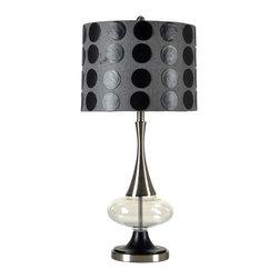 Stylecraft - Stylecraft L33933DS Steel and Glass Table Lamp - Stylecraft L33933DS Steel and Glass Table Lamp