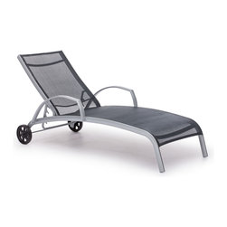 Zuo Modern - Casam Lounge Black & Silver - Sleek and modern, lounge in style with the Casam Lounge Chair. The frame is made of aluminum and the cover is textile, a very durable polyester fiber mix that withstands UV rays and water.