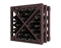 Wine Racks America - Lattice Stacking X Wine Cube in Premium Redwood, Burgundy + Satin Finish - Designed to stack one on top of the other for space-saving wine storage our stacking cubes are ideal for an expanding collection. Use as a stand alone rack in your kitchen or living space or pair with the 16-Bottle Cubicle Wine Rack and/or the Stemware Rack Cube for flexible storage.
