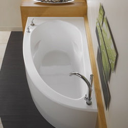 Wind Tub - There's plenty to love about this tub! Graceful curves, corner installation, economy, and deep soaking make the Wind a very popular tub. Options such as Whirlpool, Air jets, and Chromotherapy lights available.