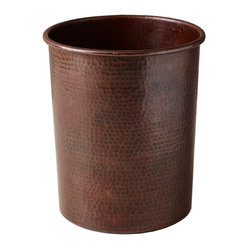 Native Trails - Large Copper Utensil Holder - This beautifully crafted utensil holder stores all your tools of the trade in one easy-to-reach location. It's made of heavy-gauge copper that's been hammered by hand for one-of-a-kind character.