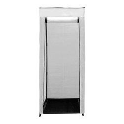 "Florida Brands - 24 inch Compact Portable Hanging Closet in White - 24 Inch Compact Portable hanging closet , Durable frame, strong metal hanging bar, Improved cover strength, Breathable fabric cover to keeps clothes fresh, Zippered front door, Easy No tools assembly, measurers 62"" H x 24"" W x 20"""