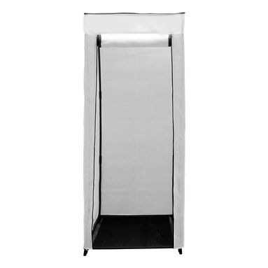 """Florida Brands - 24 inch Compact Portable Hanging Closet in White - 24 Inch Compact Portable hanging closet , Durable frame, strong metal hanging bar, Improved cover strength, Breathable fabric cover to keeps clothes fresh, Zippered front door, Easy No tools assembly, measurers 62"""" H x 24"""" W x 20"""""""