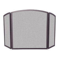 Uniflame - Uniflame S-1658 3 Fold Bronze Wrought Iron Screen w/ Continuous Arch - 3 Fold Bronze Wrought Iron Screen w/ Continuous Arch belongs to Fireplace Accessories Collection by Uniflame