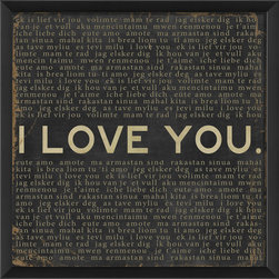 The Artwork Factory - 'I Love You' Print - 100% Made in the USA, Ready-to-Hang, museum quality framed artwork