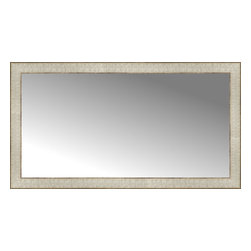 """Posters 2 Prints, LLC - 38"""" x 21"""" Libretto Antique Silver Custom Framed Mirror - 38"""" x 21"""" Custom Framed Mirror made by Posters 2 Prints. Standard glass with unrivaled selection of crafted mirror frames.  Protected with category II safety backing to keep glass fragments together should the mirror be accidentally broken.  Safe arrival guaranteed.  Made in the United States of America"""