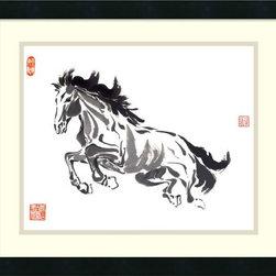 Amanti Art - Nan Rae 'Untrammeled' Framed Art Print 21 x 18-inch - Horse art