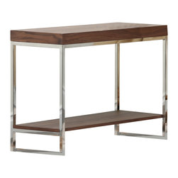 Abbyson Living - Newbury Walnut Console Table - Enjoy the unique and contemporary design of this console table. With a solid wood construction and beautiful walnut finish, this charming table is the perfect accent piece to any living space.