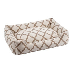 Jax & Bones - Jax & Bones Cotton Blends Lounge Bed Roma Large - The Jax and Bones cotton blends lounge bed is perfect for your dog for lazing around, snuggling, curling into, and leaning against. The warmth and extra reassurance this bed provides lets your dog remain comfortable and happy. With extremely unique range of designs, these beds are easy to maintain and made from the highest quality material especially considering we use an eco-friendly fiber called Sustainafill.  A diverse selection of heavy weight fabrics that are machine washable and luxurious to the touch. Most of these fabrics carry a texture that will create a uber luxurious upholstery feeling dog bed. Great for medium to high traffic use and homes that want a more unique design. Machine washable, low heat tumble recommended! 100% Machine Washable and filled with Sustainafill, an eco-friendly fiber.
