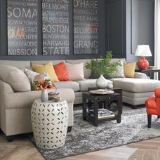 Transitional Sectional Sofas by Under the Roof