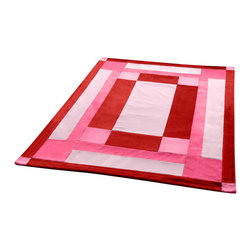 """Blancho Bedding - Onitiva - [Noble Rose] Soft Coral Fleece Patchwork Throw Blanket (59""""-78.7"""") - This Coral Fleece Patchwork Throw Blanket measures 59 by 78.7 inches. Comfort, warmth and stylish designs. Whether you are adding the final touch to your bedroom or rec-room these patterns will add a little whimsy to your decor. This Coral Fleece Patchwork throw blanket will make a fun additional to any room and are beautiful draped over a sofa, chair, bottom of your bed and handy to grab and snuggle up in when there is a chill in the air. They are the perfect gift for any occasion! Keep one in your car for staying warm at  outdoor sporting events. Place one on your couch or favorite upholstered chair. Have extras on hand for sleepovers and overnight guests. Machine wash and tumble dry for easy care. Will look and feel as good as new  after multiple washings!"""