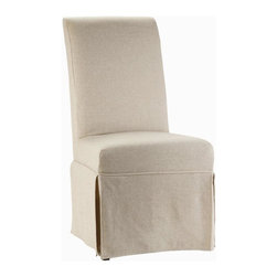 Hooker Furniture - Sanctuary Clarice Skirted Chair w Glides - Se - Set of 2. Upholstered seat and back. Four tack in floor glides. Upholstery can be cleaned by solvent based solution. Seat height: 19.75 in.. Overall: 30 in. W x 21.25 in. D x 42.5 in. HWhen you walk into your home at the end of that long day, you will be delighted and your spirit will be renewed. Pursue serenity at home. Create your own personal sanctuary, a special place where you can experience comfort within.