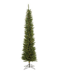 "Vickerman - Durham Pole 200LED WmWht (6.5' x 20"") - 6.5' x 20"" Durham Pole Pine Tree 390 PVC tips & 200 LED Frosted Italian Lights in metal stand. Utilizes energy-effiecent, durable LED technology."