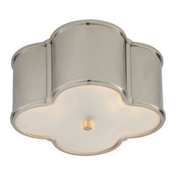 Visual Comfort & Co. - Visual Comfort & Co. AH4014PN-FG Alexa Hampton Basil 2-Light Flush Mounts - This 2 light Flush Mount from the Alexa Hampton Basil collection by Visual Comfort will enhance your home with a perfect mix of form and function. The features include a Polished Nickel finish applied by experts. This item qualifies for free shipping!
