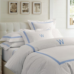 Classic Greek Key Bedding, Blue