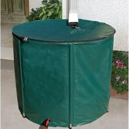 Heaven & Earth 156 Gallon Knock Down Rain Water Barrel - Helping out the environment doesn't have to drain your finances or your energy. In fact, with the 156 Gallon Knock Down Rain Water Barrel, being eco-friendly requires virtually no set-up, and it's probably going to save you money. This durable, weather-resistant nylon barrel collects up to a whopping 156 gallons of rain runoff from your home's gutter spout and filters debris out so you have a totally natural, totally free source of water to tend your yard and gardens. Plants benefit more from fresh water over tap water, and your pocketbook benefits, too: 40 percent of all water is used outdoors for plants and lawns during warmer months. Simply attach your garden hose to the tap at the bottom of the barrel and water away. A zippered opening keeps the top of the barrel firmly in place without shutting you out. The barrel itself conserves space, as well - when you want to store it during the winter, just collapse it, move it easily, and store it neatly in a shed or garage. When green living's so simple, how can you live any other way?About Systems Trading Corporation.Systems Trading Corporation (STC) was incorporated in 1994 as a manufacturer and distributor of high-quality, innovative, easy-to-use products at affordable prices. The company is privately held, with a skilled professional staff. Among the products offered, you will find the most innovative line of TV and flat-screen wall and ceiling mounts, the USA's best-selling backyard hobby greenhouses, the world's best-selling robotic lawn mower, and mini coolers and mood light products.