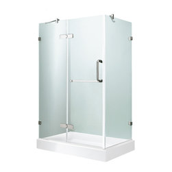 "VIGO Industries - VIGO 32 x 48 Frameless 3/8"" Clear/Chrome Shower Enclosure - Update your bathroom with this uniquely stylish and totally frameless VIGO rectangular-shaped shower enclosure"