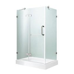 """VIGO Industries - VIGO 32 x 48 Frameless 3/8"""" Clear/Chrome Shower Enclosure - Update your bathroom with this uniquely stylish and totally frameless VIGO rectangular-shaped shower enclosure"""