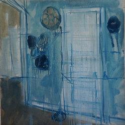 "Tom Hamilton, 1951 - 2011,  'Blue Interior' Series (54) - 'Blue Interior' Series; unsigned watercolor on paper; 20.5""w. X 20.5""h."