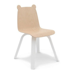 Inova Team - Modern Chair - Set Of 2, Birch - These adorable bear-eared bent plywood chairs are sold in sets of two. Fitting perfectly with the Oeuf play table (sold separately), they are sure to inspire a bit of extra fun while your child creates, snacks, or reads in their very own, kid-sized chair.
