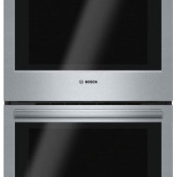 "Bosch - 800 Series HBL8651UC 30"" Electric Double Wall Oven with 4.6 cu ft. Capacity  Tel - Boschs 800 series 30 wall oven installs flush for a perfect look This elegant and stylish looking wall oven features dampened hinges which softly and quietly guide the SmoothClose door shut and a full-extension telescopic rack offers safe access to t..."