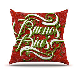 "KESS InHouse - Roberlan ""Buenos Dias"" Good Day Throw Pillow, Indoor, 16""x16"" - Rest among the art you love. Transform your hang out room into a hip gallery, that's also comfortable. With this pillow you can create an environment that reflects your unique style. It's amazing what a throw pillow can do to complete a room. (Kess InHouse is not responsible for pillow fighting that may occur as the result of creative stimulation)."
