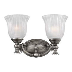 Hinkley - Hinkley-5582PL-Francoise Bath Fixture - Under four generations of family�leadership, Hinkley Lighting has transformed from a small outdoor lantern company to a global brand intent on bringing you the best in style, quality and value. We thrive on personal relationships, regional roots, inspiring design and a family atmosphere that is encouraged at every level of our company. If the past 90 years are any indication, it is with great pride and excitement that we set our sights on the horizon and extend our commitment to keeping your �Life Aglow.�