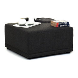 NYFU - Modular Ottoman - Anthracite - This modular set gives you a full living room, a corner sectional sofa, and even a four seater. Move it around as you please! Each piece is lightweight so that you can easily recreate a set up. You can lay solo or have a whole party. If you want to have footrest while sitting with friends, throw in our mustardy green Alamo Ottoman. Ideal for all urbanites who like having flexibility in their furniture.