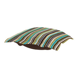 Ribbon Willow Puff Ottoman Cushion - Extra Puff Cushions in Ribbon are a great way to get a new look without the expense of buying a whole new ottoman! Puff Cushions fit Scroll Ottoman frames. Add bold color in a linear way, with the bold velvety stripes of a new Ribbon Puff Cushion.