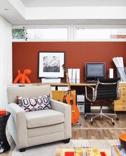 Rust Orange Walls Hope Basement Canteen