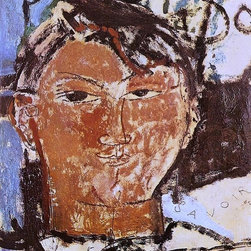 """Art MegaMart - Amedeo Modigliani Portrait of Pablo Picasso - 21"""" x 28"""" Premium Canvas Print - 21"""" x 28"""" Amedeo Modigliani Portrait of Pablo Picasso premium canvas print reproduced to meet museum quality standards. Our museum quality canvas prints are produced using high-precision print technology for a more accurate reproduction printed on high quality canvas with fade-resistant, archival inks. Our progressive business model allows us to offer works of art to you at the best wholesale pricing, significantly less than art gallery prices, affordable to all. We present a comprehensive collection of exceptional canvas art reproductions by Amedeo Modigliani."""