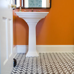 eclectic powder room by Charles Luck Stone Center